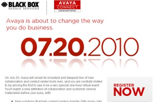 AVAYA launch July 20.