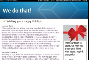 Black Box Resale Services - Holiday Newsletter