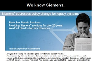 We know Siemens.