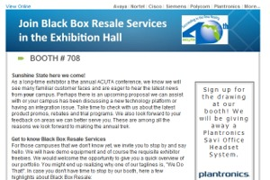 Black Box Resale Services - ACUTA