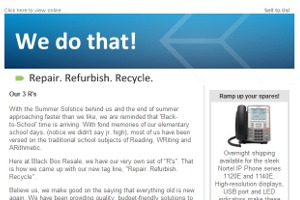 Black Box Resale Services - August Newsletter